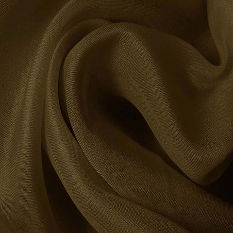 Silk Satin Face Organza Walnut Brown