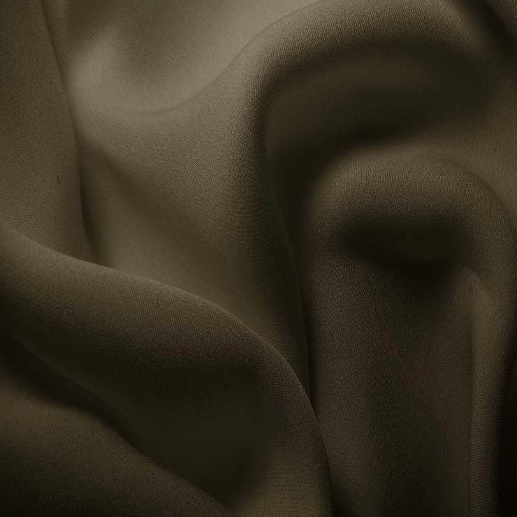 Silk Double Georgette Walnut Brown