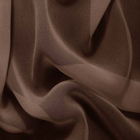 Silk Chiffon Walnut Brown