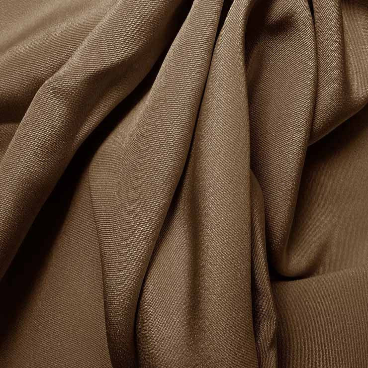 Silk 4 Ply Woven Crepe Walnut Brown
