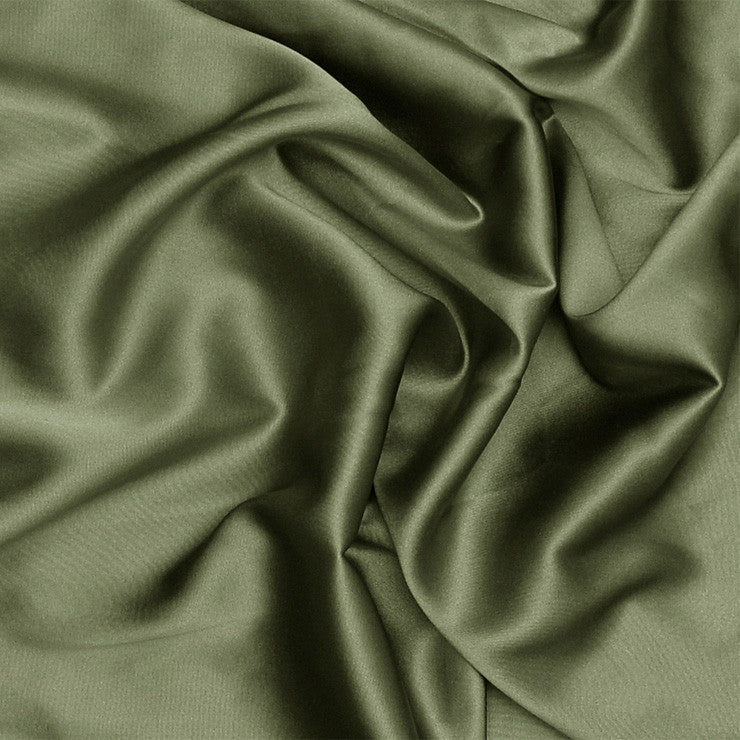 Silk Stretch Charmeuse Tree Green
