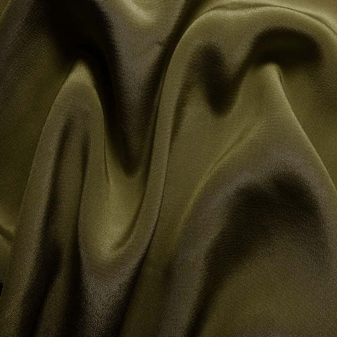 Silk Crepe de Chine Tree Green