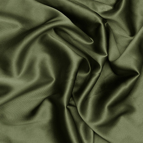 Silk Charmeuse Olive Green