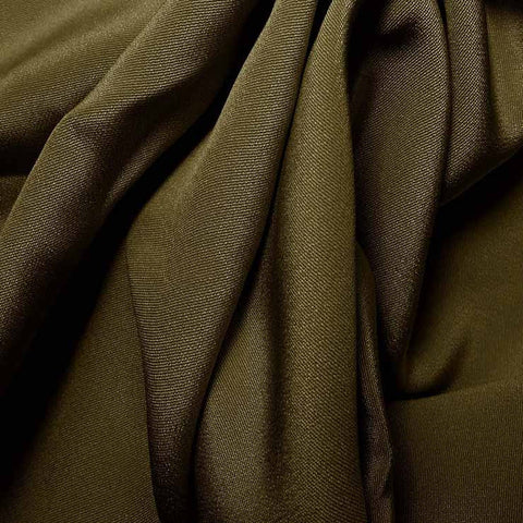 Silk 4 Ply Woven Crepe Olive Green