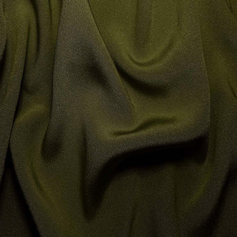 Silk Crepe Back Satin Olive Green