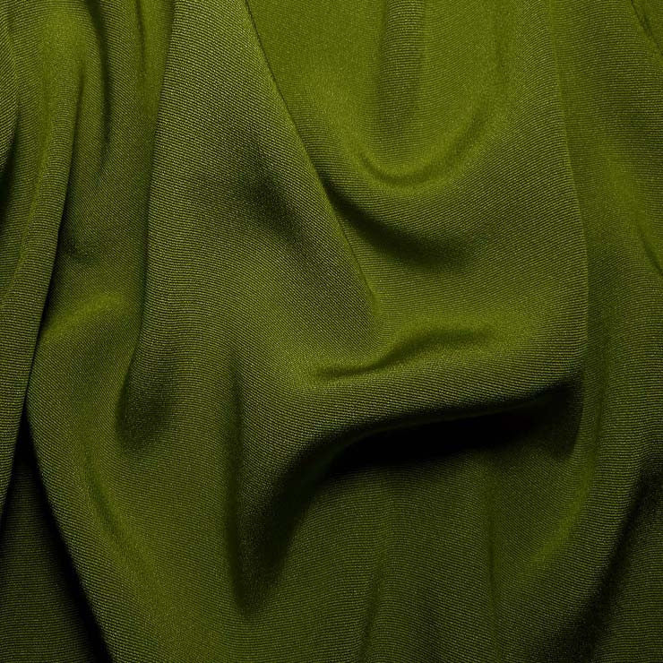 Silk Crepe Back Satin Grass Green