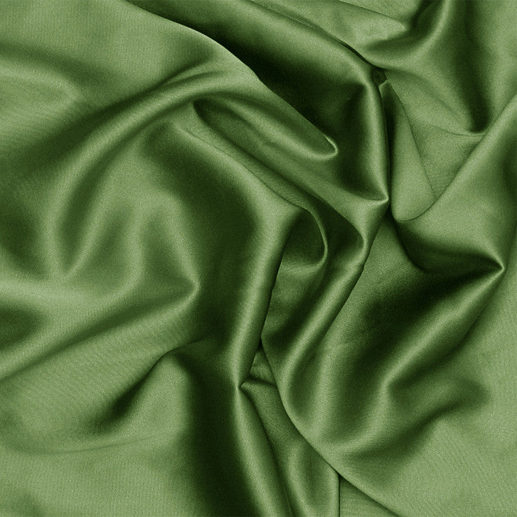 Silk Stretch Charmeuse Grass Green