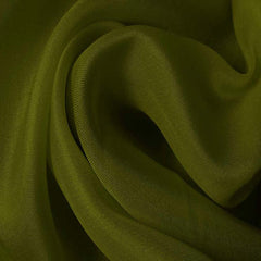 Silk Satin Face Organza Grass Green