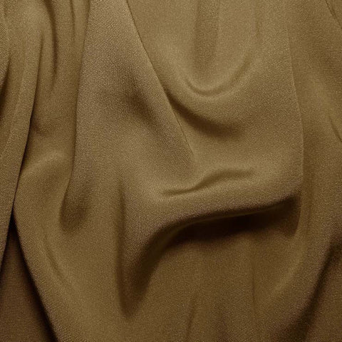 Silk Crepe Back Satin Khaki