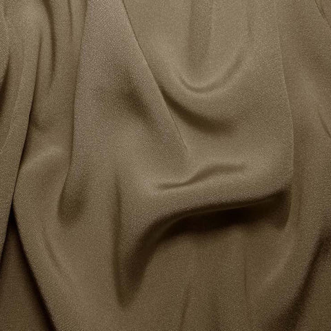 Silk Crepe Back Satin Khaki Gray