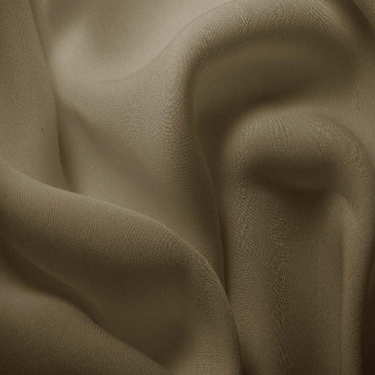 Silk Double Georgette Khaki Gray