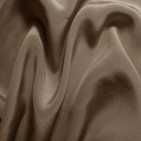 Silk Crepe de Chine Khaki Gray