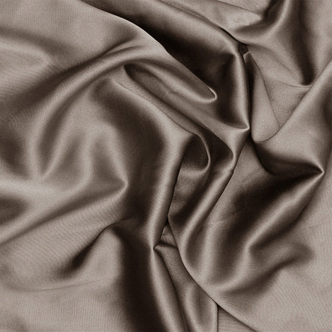 Silk Charmeuse Khaki Gray