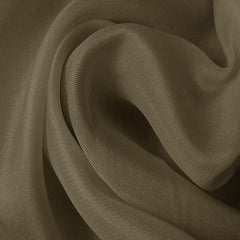 Silk Satin Face Organza Khaki Gray