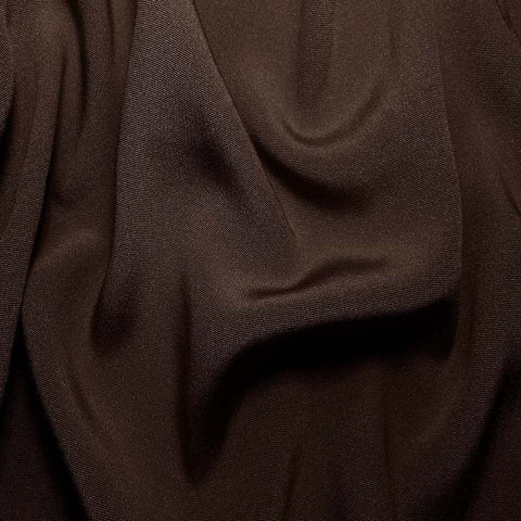 Silk Crepe Back Satin Deep Brown