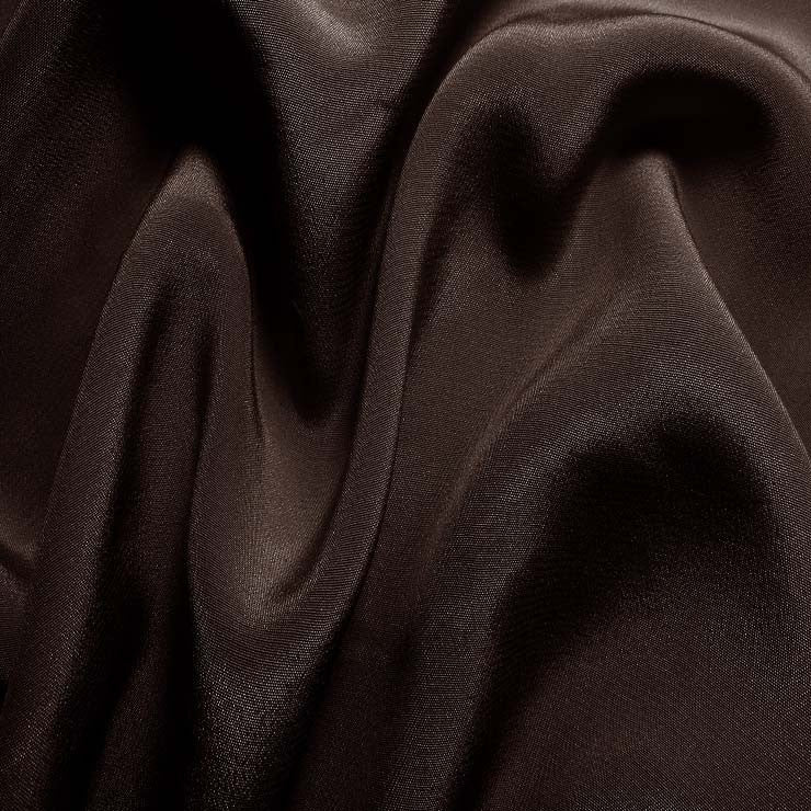 Silk Crepe de Chine Deep Brown