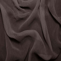 Silk Crinkle Chiffon Deep Brown