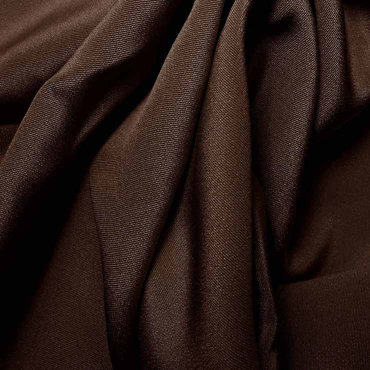 Silk 4 Ply Woven Crepe Deep Brown