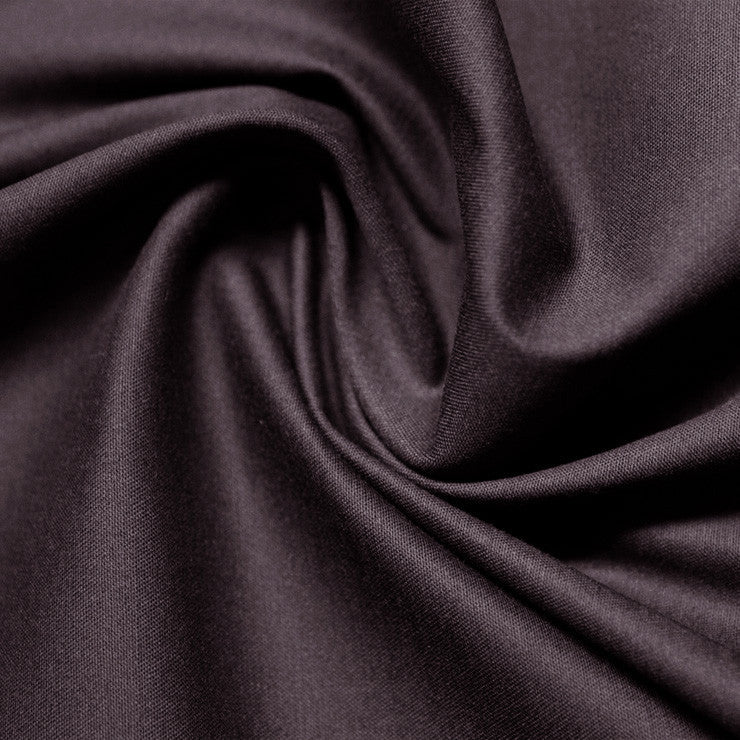 Cotton Stretch Sateen 288 Raisin - NY Fashion Center Fabrics