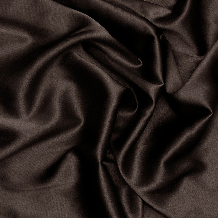 Silk Stretch Charmeuse Deep Brown