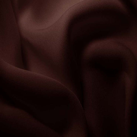 Silk Double Georgette Deep Brown