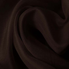 Silk Satin Face Organza Deep Brown