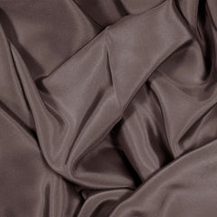 Silk Stretch Crepe De Chine Deep Brown
