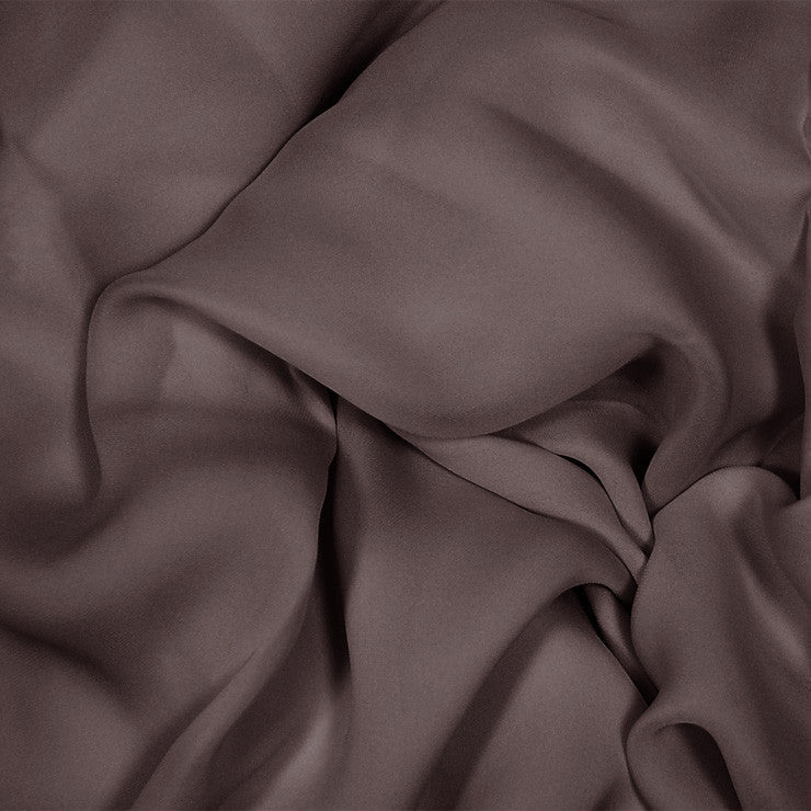 Silk Stretch Georgette Deep Brown