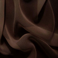 Silk Chiffon Deep Brown