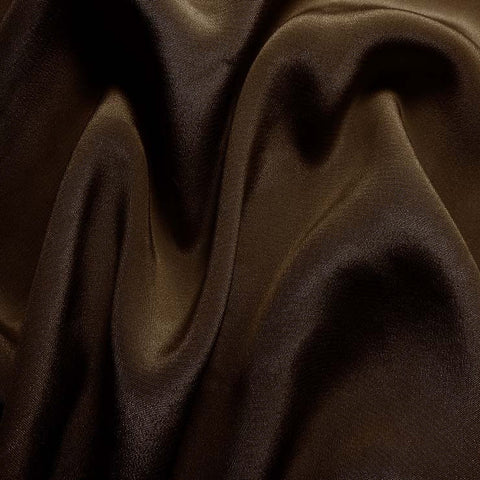 Silk Crepe de Chine Bronze Brown