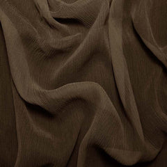 Silk Crinkle Chiffon Bronze Brown