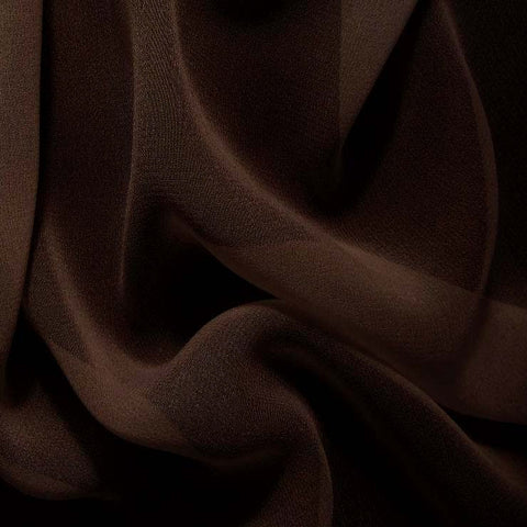 Silk Chiffon Bronze Brown