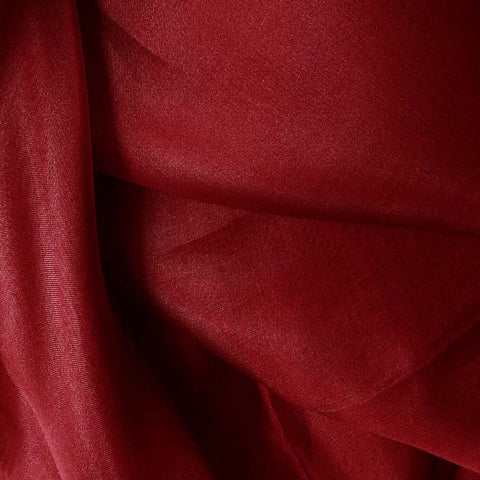 Silk Organza Cherry Red
