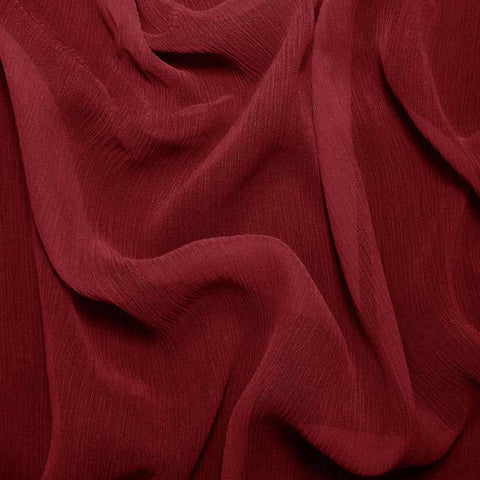 Silk Crinkle Chiffon Cherry Red