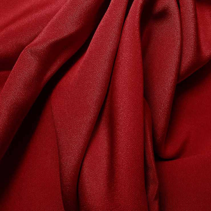 Silk 4 Ply Woven Crepe Cherry Red