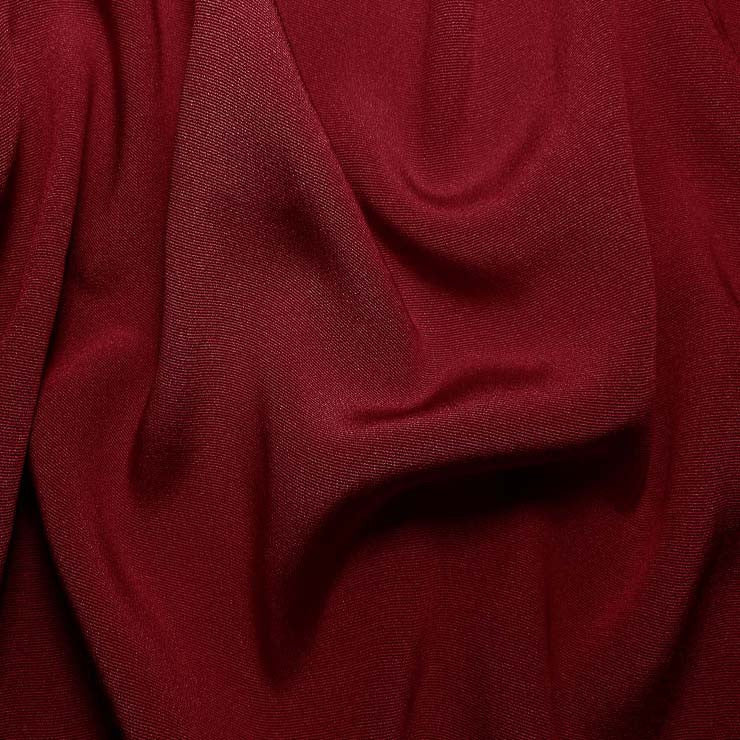 Silk Crepe Back Satin Cherry Red