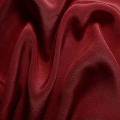 Silk Crepe de Chine Cherry Red