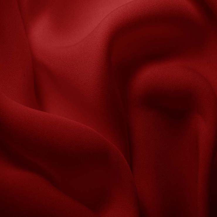 Silk Double Georgette Cherry Red