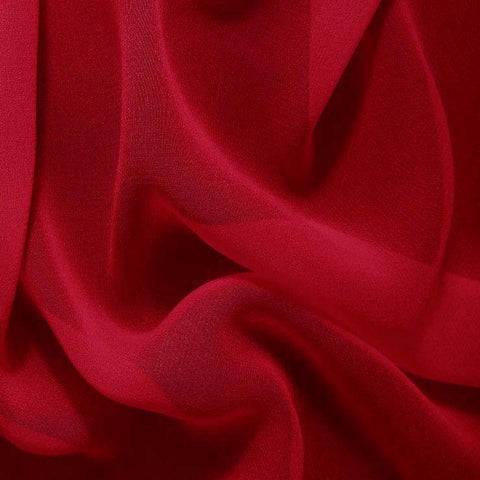Silk Chiffon Cherry Red