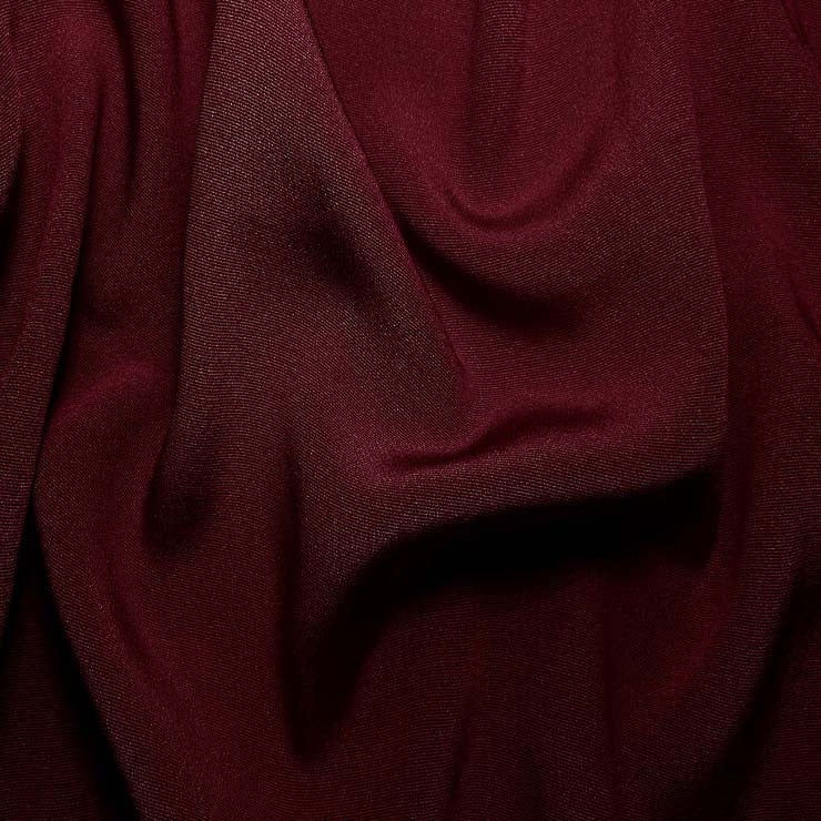 Silk Crepe Back Satin Wine