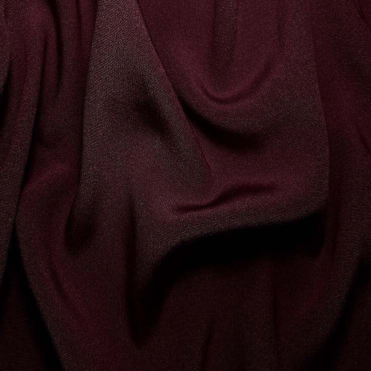 Silk Crepe Back Satin Prune