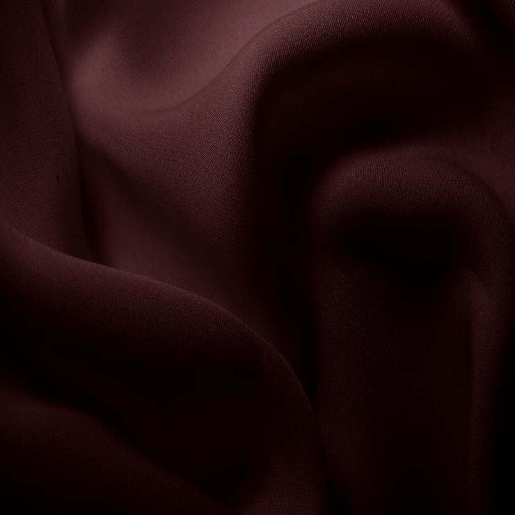 Silk Double Georgette Prune