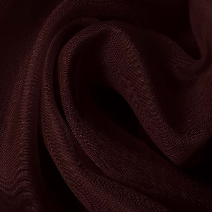 Silk Satin Face Organza Prune