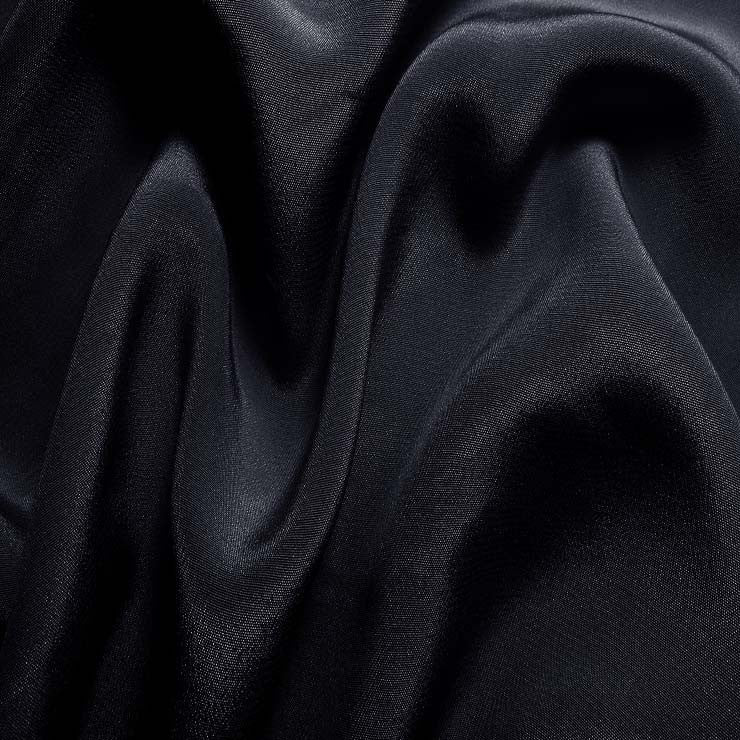 Silk Crepe de Chine Navy Blue