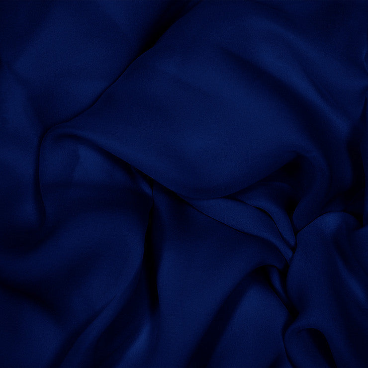 Silk Stretch Georgette Navy Blue