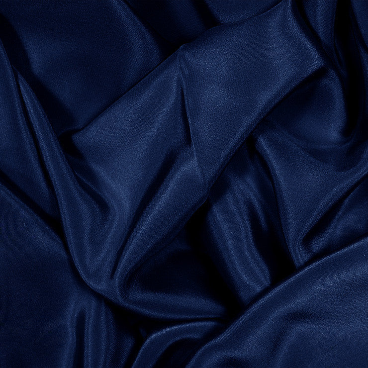 Silk Stretch Crepe De Chine Navy Blue