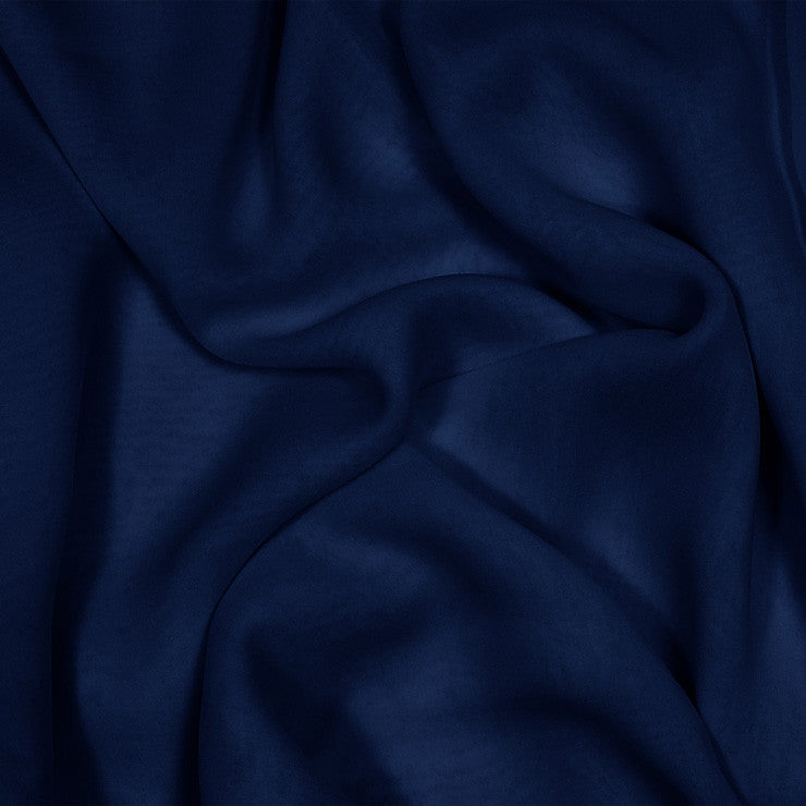 Silk Stretch Chiffon Navy Blue