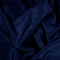 Silk Stretch Crepe De Chine Dark Navy
