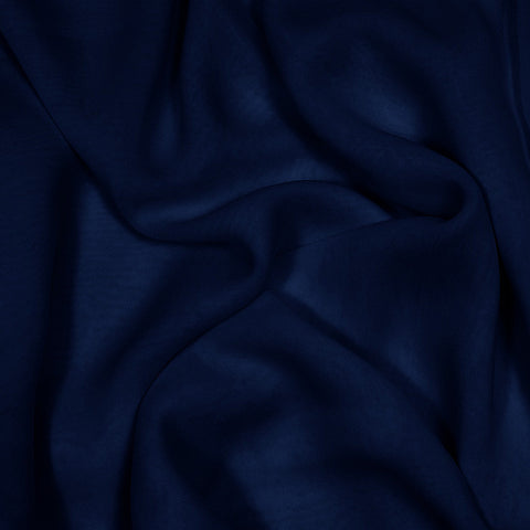 Silk Stretch Chiffon Dark Navy