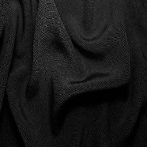 Silk Crepe Back Satin Black